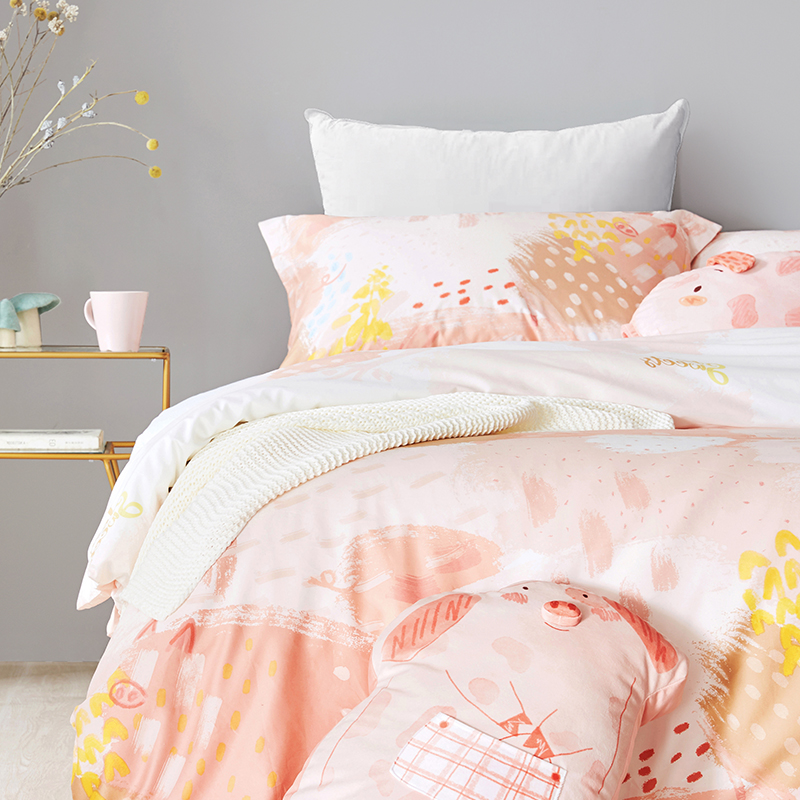 1.5m床四件套+圆满猪莉抱枕+福袋猪莉抱枕