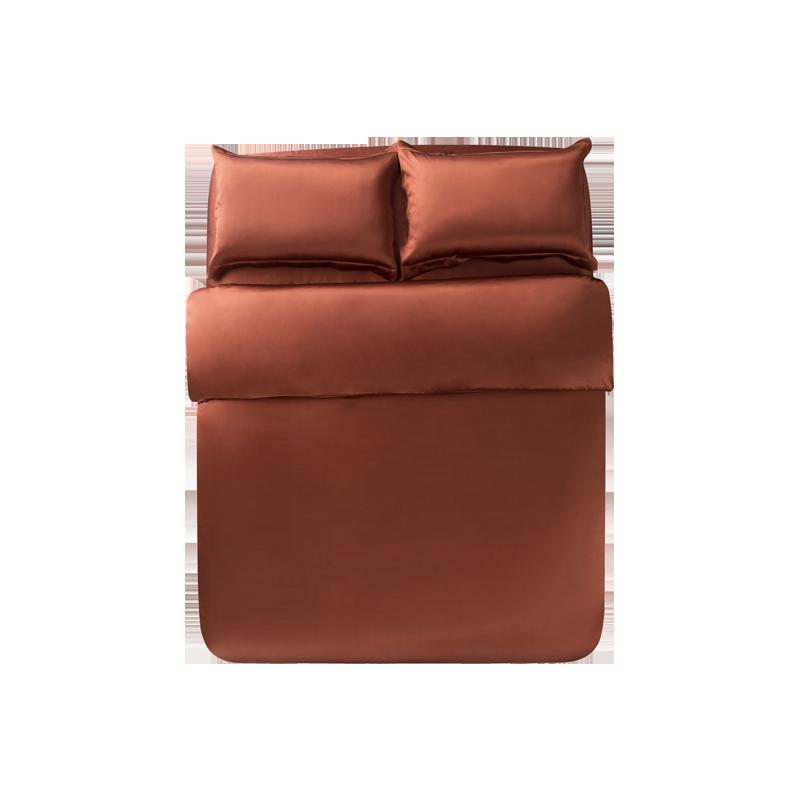 宫廷奢华真丝四件套 (1.5m床:适用2mx2.3m被芯 ; 玛瑙红)