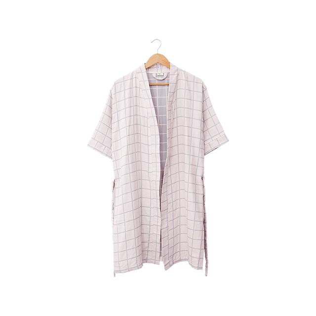 色织双层格子浴衣 (粉色/ 女款)