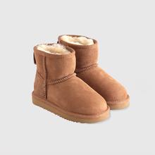 儿童真皮毛雪地靴