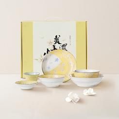 日本制造 美浓烧京樱餐具礼盒 6件装