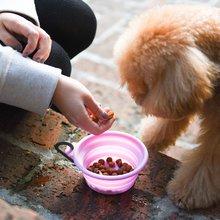 宠物外出便携硅胶折叠碗