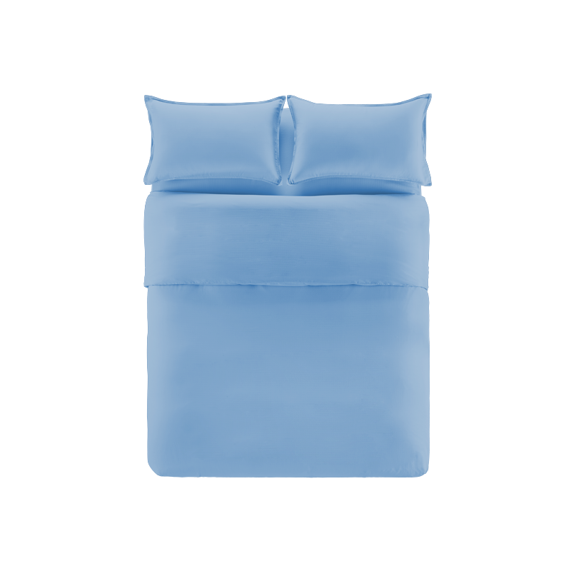 透气呼吸纱四件套 (蓝色 ; 1.8m床:适用2.2mx2.4m被芯)