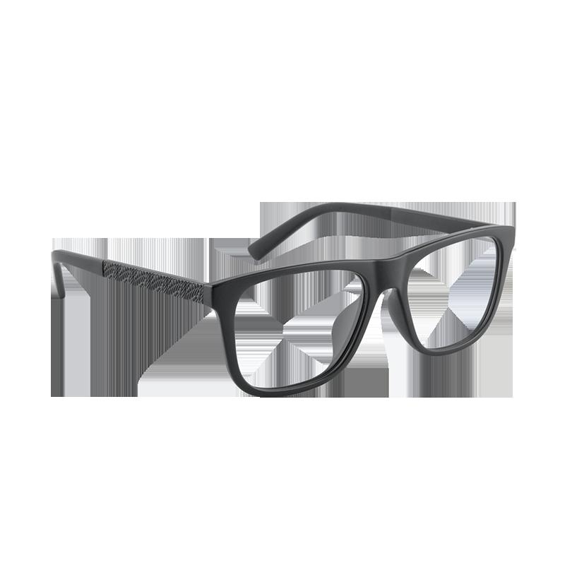 男/女压纹板材方形平光镜 (方型)