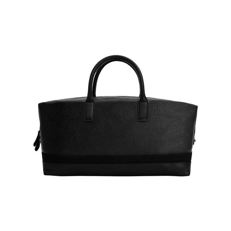 头层牛皮旅行袋 (黑色)