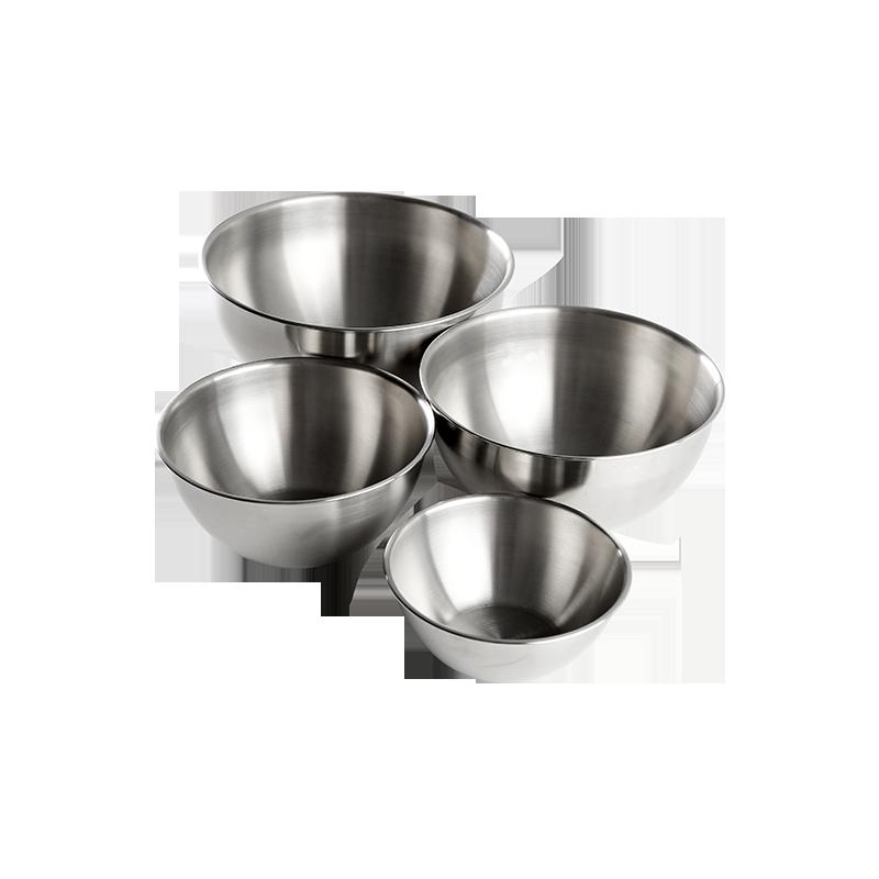 不锈钢多尺寸厨房搅拌盆套装 (搅拌盆4件套)