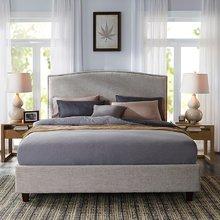 经典美式布艺软包床